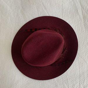 Burgundy wine hat